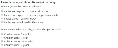 Babes In Arms Policy